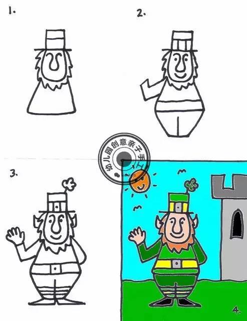 儿童人物简笔画:小丑先生天使女巫等|亲子|幼儿园
