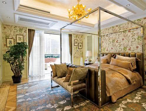 90平米欧式风格装修案例 带您领略轻奢浪漫别致家