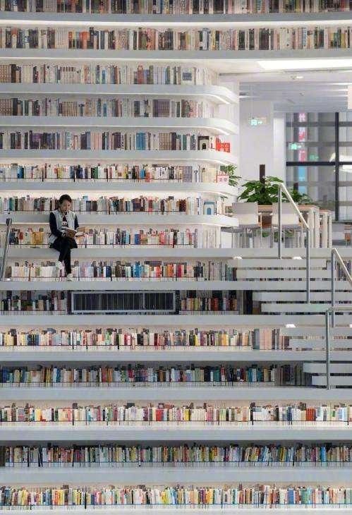 天津滨海新区图书馆: 这里被称为中国最美图书馆图片