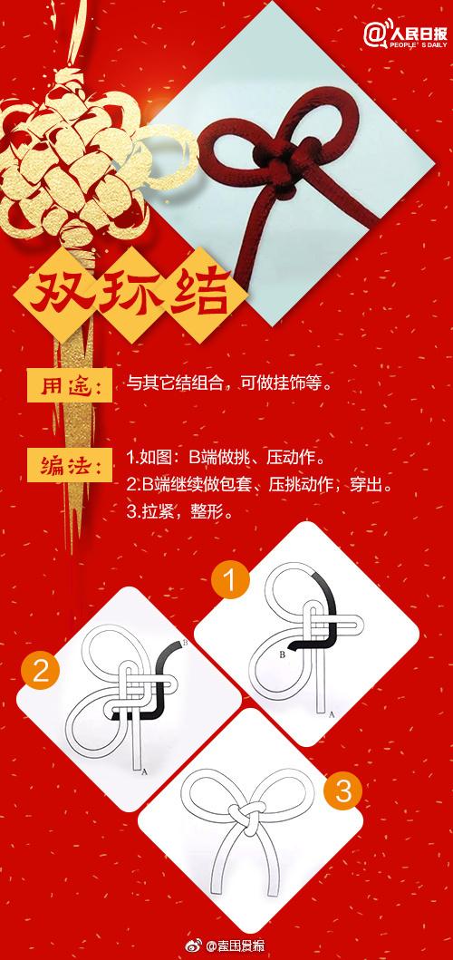 中国结双环结编法_中国结怎么编法步骤图教程第4张