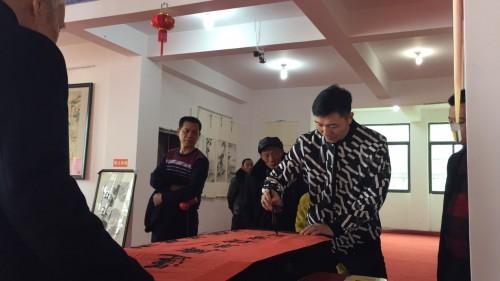 福建省仙游县枫亭新春书画展在塔斗山会元寺闪亮登场!