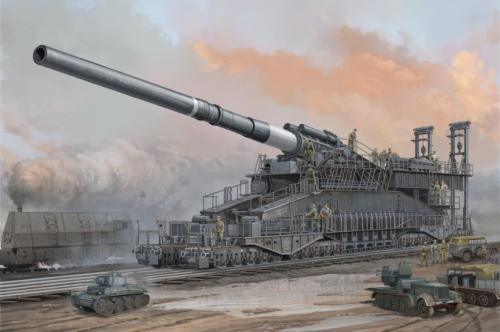 挑战黑人巨炮_二战德国黑武器:800毫米巨炮传说—gustav