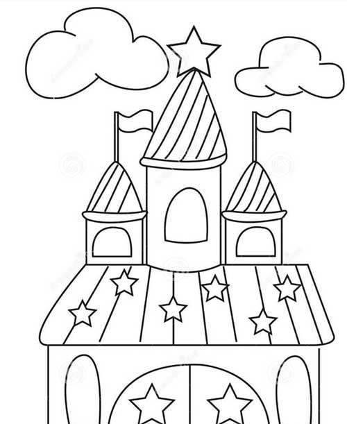 8款城堡主题幼儿简笔画,帮助宝宝认知空间构建知识,家长请收好