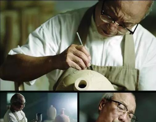 """60年的日夜厮磨,让徐朝兴练就了一手独步青瓷界的功夫——""""跳刀""""。"""