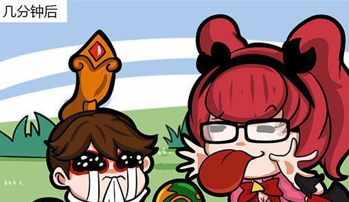 王者荣耀漫画:搞怪安琪拉放大招给刘禅看,把刘禅的眼睛闪哭了