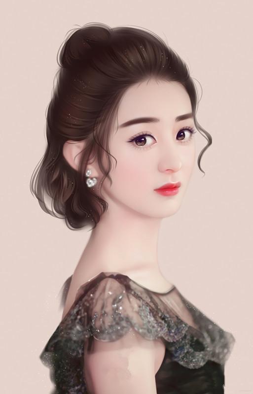 赵丽颖的九张手绘图,如果不看她的衣服和发型,你能认出来吗?