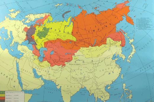 沙俄全盛时期地图