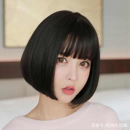 不烫不染的短发发型女生原来自然发型这中长短发2015款直发图片