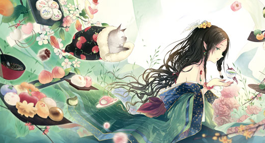 十二星座专属动漫美少女插画,双鱼座纯真灵动,射手座