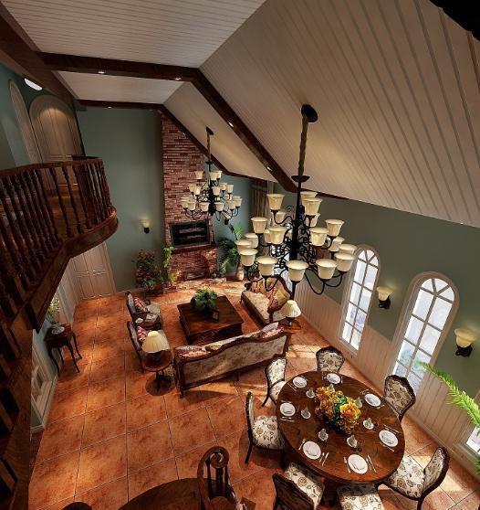 装成卖掉的顶面异型乡村,风格本想美式结果大门后还不别墅是上面别墅卫生间图片