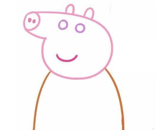 育儿简笔画可爱小猪佩奇一家人,两分钟就会画,宝宝最喜欢!