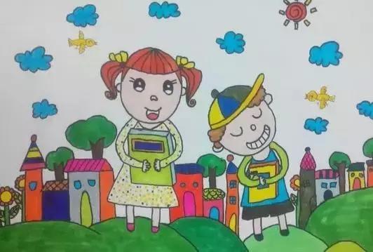 幼儿园中班美术我是好孩子图片