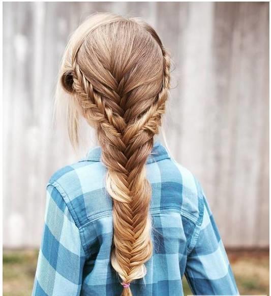 儿童编发发型设计,有马尾辫有双马尾,还有盘发,时尚妈咪赶快学起来