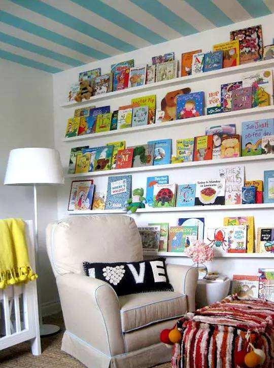 儿童读书角设计图片