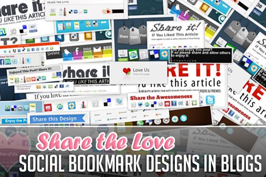 分享爱情:博客中的社交书签设计
