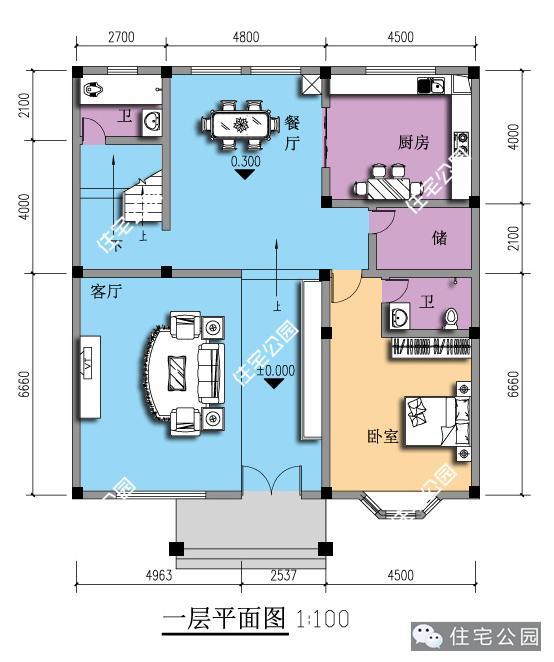 6套新农村三层欧式自建别墅户型,为啥喜欢第5套?