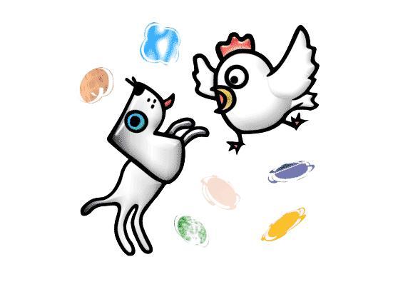 家长培养孩子运用成语6 6,提示:看看图中两种动物的状态 小提示:有不