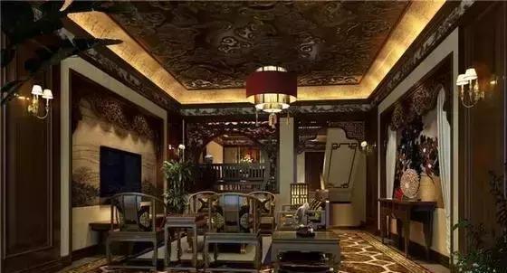 别墅中式装修其客厅红木家具摆放技巧解析