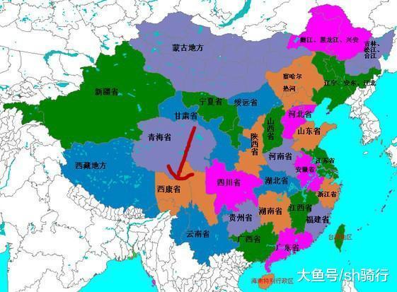 中国西南地区唯一被撤销的省份, 划归四川和西藏