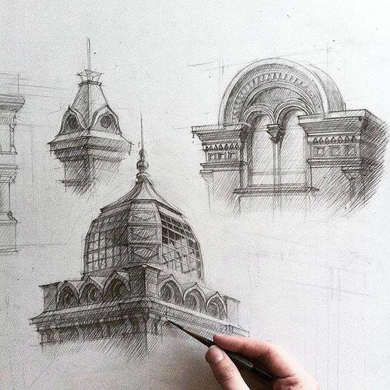 三点透视的建筑画作_新浪看点