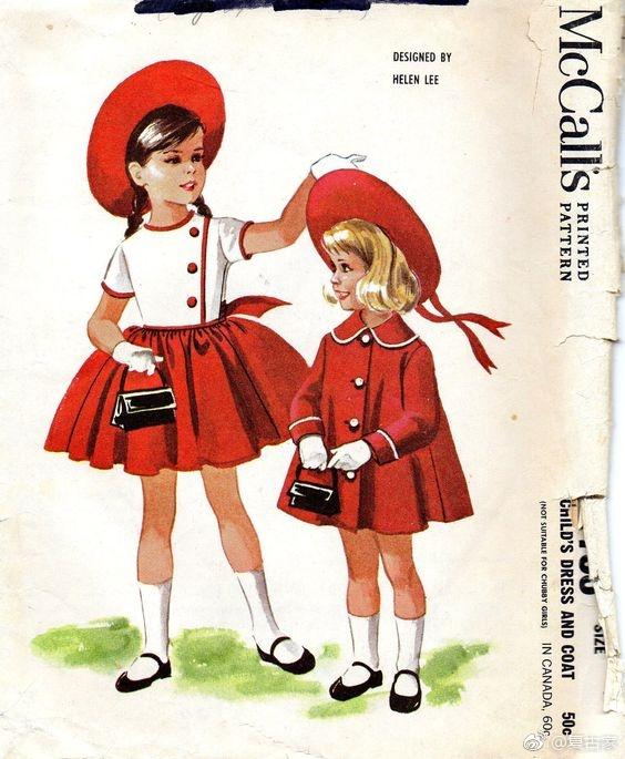 1920年代的童装手绘图 太可爱太美丽了
