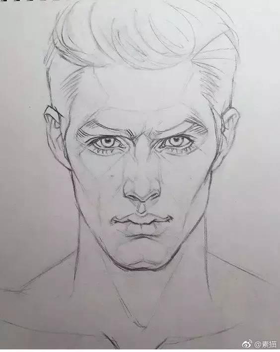 手绘素描 英俊的男青年  特别声明:以上文章内容仅代表作者本人观点