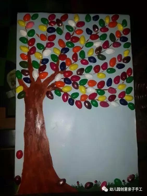 幼儿园废物利用手工小创意:开心果不但好吃,连果壳都这么好玩!