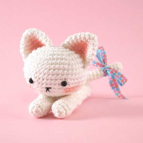 纯手工毛线编织工艺品 钩针动物系列 猫咪