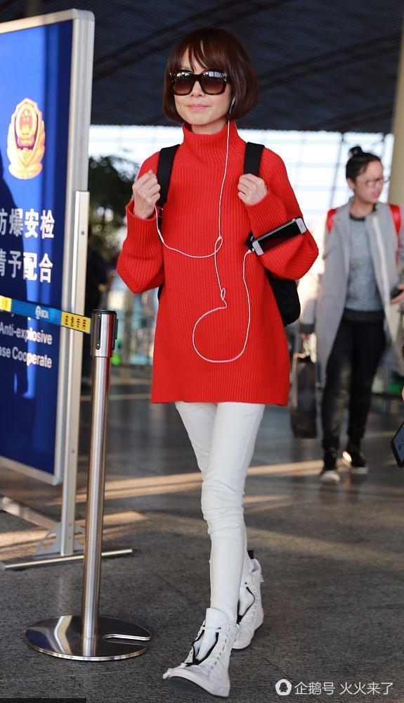 张惠妹粗腿穿衣辣眼,鲁豫太瘦像行走中的金针菇图片
