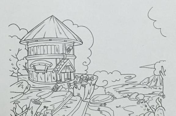 简笔画 手绘 线稿 576_380