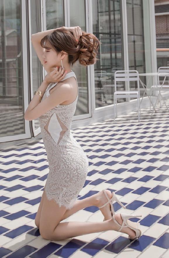 蕾丝超短裙气质美女,如人间尤物