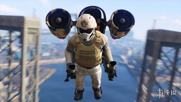 """喷气背包加入!《GTAOL》DLC""""末日抢劫""""截图 四人拯救圣洛都"""