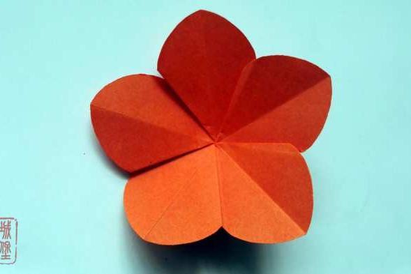 简单的折纸五瓣花, 幼儿园小朋友喜欢的折纸小花