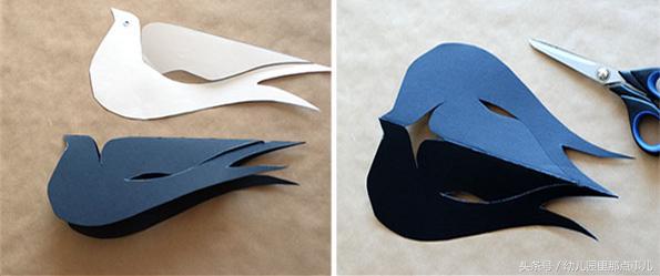 幼儿园创意亲子手工之立体卡纸小燕子