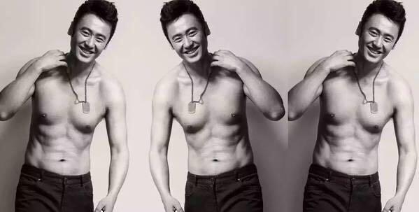 杨洋还是挺瘦的,需要囤积些脂肪才好练肌肉哟.