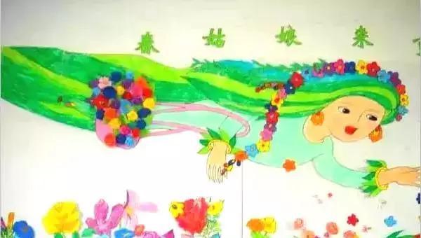 幼儿园春天主题环境手工制作,发掘孩子的潜能