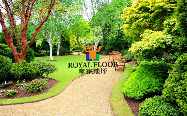 园林彩色透水地坪展示