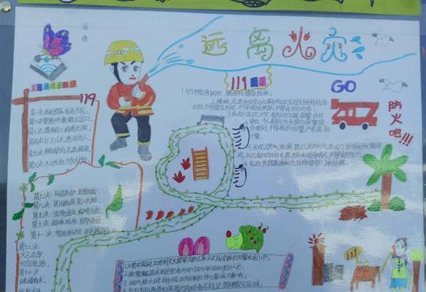 常山大队组织开展小学生消防安全知识手抄报活动