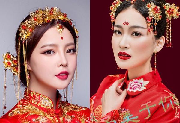 22款中式新娘发型图片精选,搭配精美发饰尽显东方古典图片