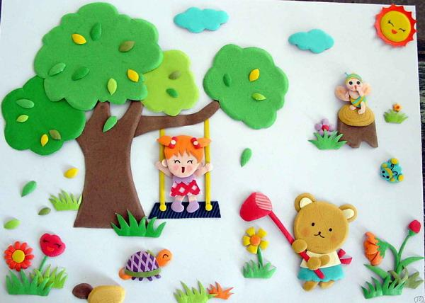 幼儿园亲子手工之环创主题墙,春天与动物有个约会,满满活力生机