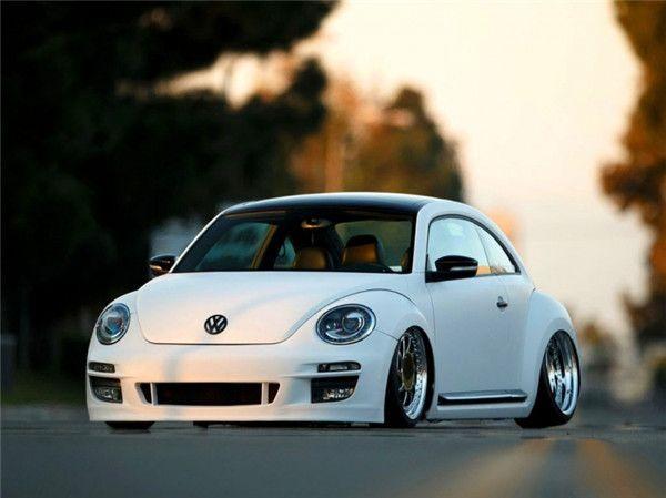 车如其名 大众甲壳虫改装气压减震悬挂 低趴范儿