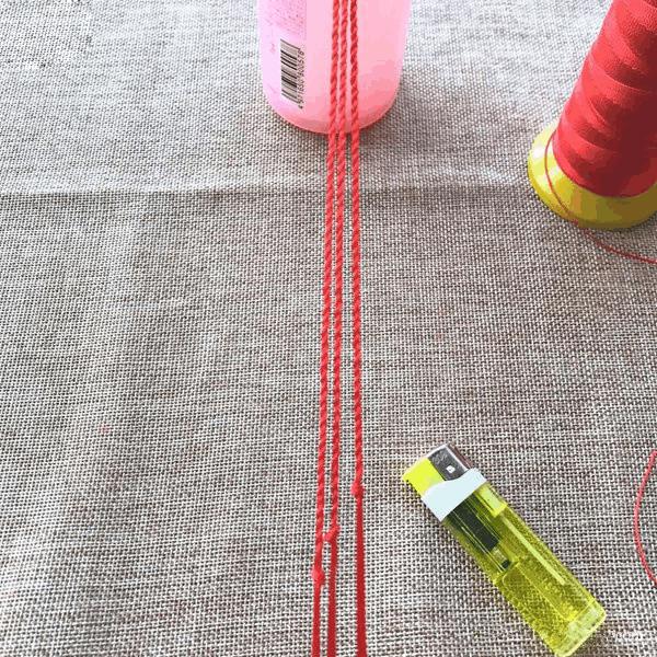 好看的三生绳手链编法图解 diy首饰手工制作