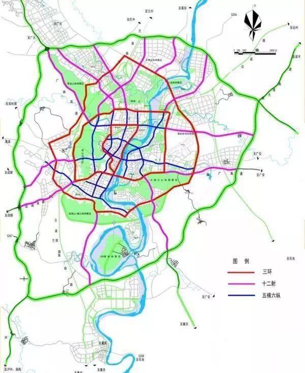 南充未来城市规划图_南充城市规划图