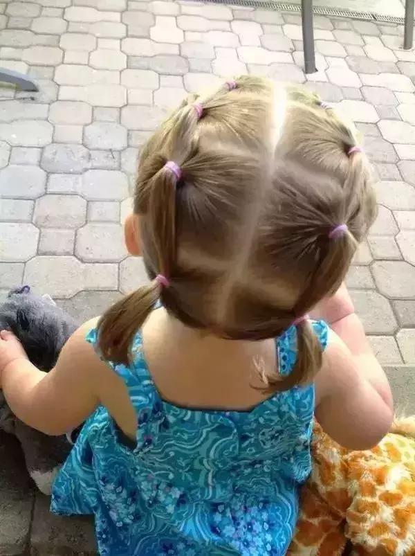 潮娃|轻松3步简单不怕发型没有,烫发过年编发好看的中长完成女生儿童图片图片