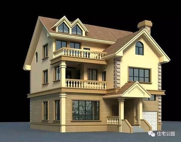 28万自建3层别墅农村,车库客厅窗带别墅,实用!悬空露台老虎图片