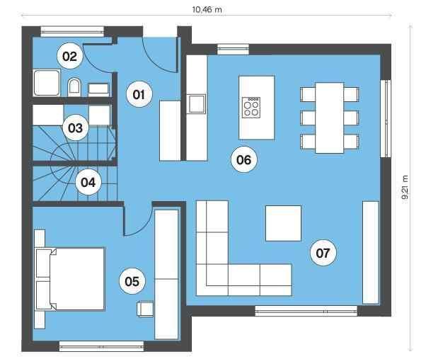 二层三间房,可以根据家庭需求设置功能,客厅 2卧室;主卧 次卧 书房;3图片
