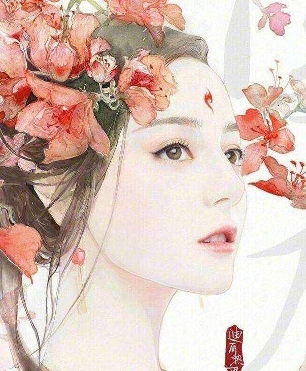 明星们的手绘图, 娜扎唯美, 郑爽美的假过头了, 热巴才是真的美