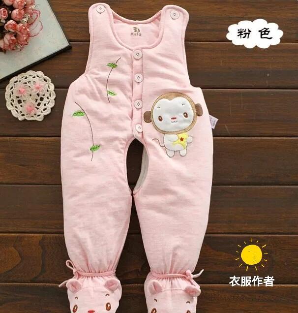6-9个月宝宝背心式带脚棉裤裁剪图