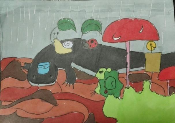 旅行青蛙老母亲未收获到稀有照片,乖儿子亲手绘画送给