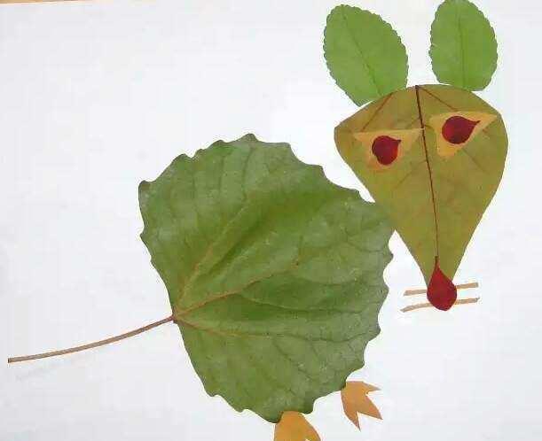 这十款幼儿树叶粘贴画,家长请收好!简单易做,提升孩子动手能力图片